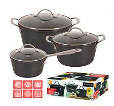ENERGY SAVING 6 pc Pot Set SAUCEPAN Cookware CASTED ALUMINIUM non stick MAGNAT