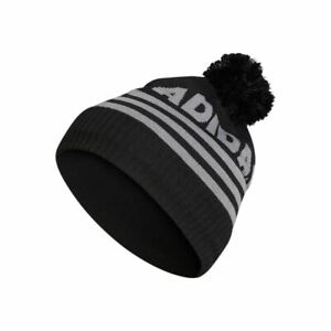 ADIDAS Golf Mens Font Pom Pom Thermal Beanie Winter Hat