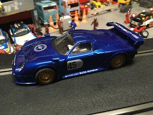 Scalextric Porsche 911 GT1 #45 C-2138 Blue Only Avail Set Car C-1032K