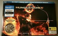 The Hunger Games Collectors Edition Walmart Mockingjay Pin WS Bluray DVD NEW