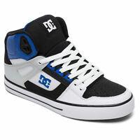 DC Shoes Men's Pure SE Hi Top Sneaker Shoes Black Wht Blu Footwear Skateboard