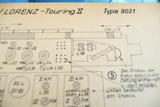 Service Manual-Instructions pour GRAPHIQUE-Lorenz Camping II, Touring II, 9021