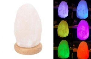 1-2kg Himalayan Salt Lamp Color Changing Natural Rock Shape Crystal Ionizer Home