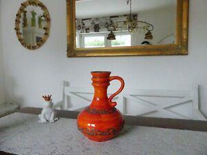 Bodenvase Vase 250/35 Tisch Vase Keramik 70er Jahre 3,2 kg Höhe 35 cm orange