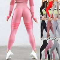 Women Push Up Yoga Pants High Waist Leggings Gym Sports Fitness Joggings Trouser