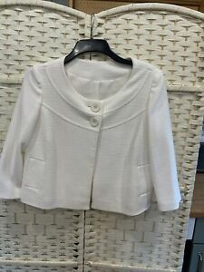 M&CO LADIES CREAM JACKET SIZE 12 Worn Once So Perfect