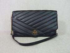 Tory Burch Kira Chevron Clutch 56824 Black Bag Purse Handbag
