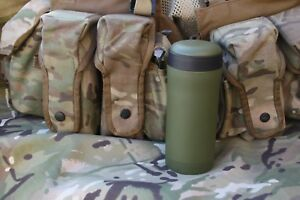 Personal hot drinks Flask Fits  Army Ammo Pouch Thermal Thermos  - Green Black T