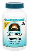 Source Naturals Wellness Formula 120 Capsules Herbal Defense Complex