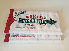 14 WRIGLEY'S SPEARMINT CHEWING GUM 2 X 7 FULL PACKS