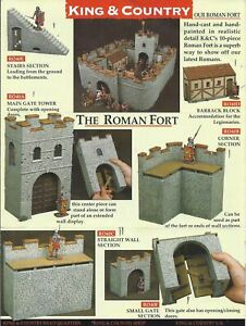 King & Country RO040 ROMAN EMPIRE, ROMAN FORT, Rare Retired