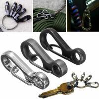10pcs Mini Split Keychain Key Ring Clips Snap Hook Hanging Carabiner Buckle G4Z8