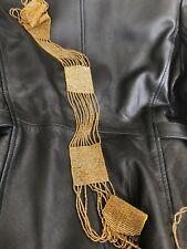 Antique beaded belt - Gold - Flapper - 1920s