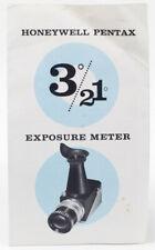 Original Pentax Honeywell 3º/21º Spot Meter Instructional Brochure