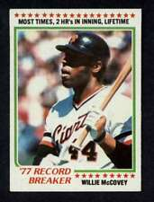 1978 Topps #3 Willie McCovey NM-MT Giants RB