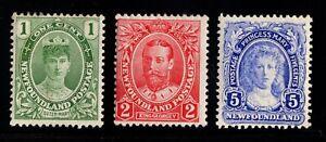#104-105-108 Newfoundland Canada mint