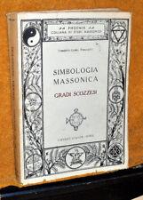 SIMBOLOGIA MASSONICA GRADI SCOZZESI ATANOR RST ANASTATICA 1948 PORCIATTI 335 PAG