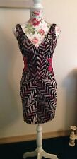 Zac Posen Zig Zag Print Dress Size 4 Retail 1390.00