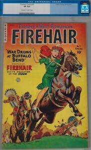 FIREHAIR #7 CGC 8.0- VERY FINE-1951 FAWCETT WESTERN COMIC