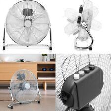 Ventilador de Suelo metalico 3 velocidades,flujo de aire,Ø 40 cm,70W,ajustable