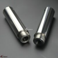 Motorcycle Stainless Steel 39mm Fork Tube 5in Extension For Harley Dyna Glide