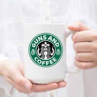 Starbucks Mug Guns And Coffee Father's Day Mug Starbucks Coffee Mug Custom