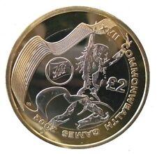 2002 £ 2 Giochi del Commonwealth Wales due Pound Coin Hunt 05/32 RARA Bi-Metal 2 a