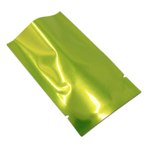 Vacuum Green Open Top Mylar Heat Seal Grade Pack Storage Pouch Aluminum Foil Bag
