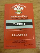 27/04/1985 Rugby Union: Welsh Cup Final, Cardiff v Llanelli [At Cardiff Arms Par