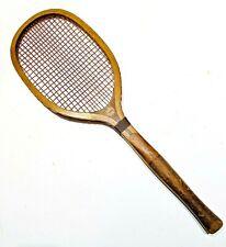 "Narragansett ""Special"" Bulbous Handle Antique Tennis Racquet - Rare Handle"