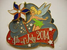 Tinkerbell July 4,  2014 3-D Movable Disney Pin L/E 3000