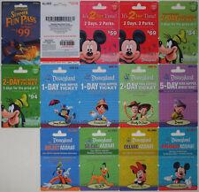 13 Different DISNEYLAND Passport Disney Gift Cards 2009: Fantasmic, Mickey++(+1)