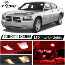 2006-2010 Dodge Charger Red LED Interior Lights Package Kit
