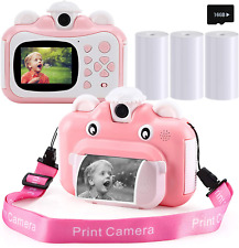 barchrons Instant Print Digital Kids Camera 1080P Rechargeable Kids Camera for G