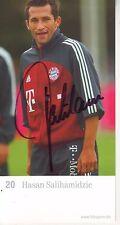 FOOTBALL carte joueur HASAN SALIHAMIDZIC équipe FC BAYERN MUNCHEN signée