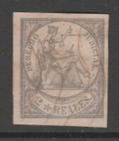 Spain Revenue stamp 4-2-21 no gum Philippines ,Puerto Rico, Antilles -1865