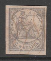 Spain Revenue stamp 4-2-21 no gum Philippines ,Puerto Rico, Antilles -1865