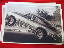 1968 PLYMOUTH BARRACUDA HEMI UNDERGLASS ON DRAG STRIP  11 X 17  PHOTO /  PICTURE