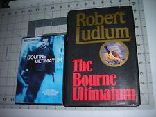 The Bourne Ultimatum 1st Edition/First Printing & DVD Movie Robert Ludlum HC/DJ