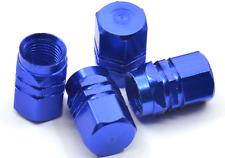 4x BLUE Aluminum Tire/Rim Valve/Wheel Dust Cover Caps