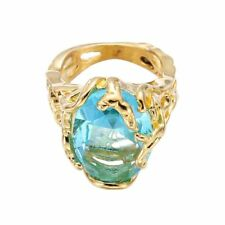 Gold-color Engagement Wedding For Blue Women Stone Crystal Rings Jewelry Ring