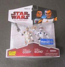 Clone Commander Cody Trooper Echo STAR WARS Clone Wars Walmart Exclusive