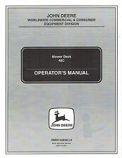 """John Deere 48C Mower Deck Operator'S Manual jd """"New"""""""