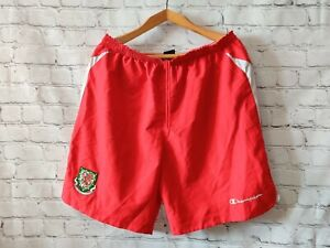 Football shorts soccer FC Wales Home 2008/2009/2010 Champion Jersey Red Mens XL