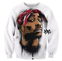 New Mens/Women Legendary 2Pac Hip hop Icon Tupac 3D Print Sweatshirt hoodie BJ23