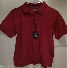 Callaway Golf NWT Womens Redish Pink/Black Striped Polo Shirt Top Size M
