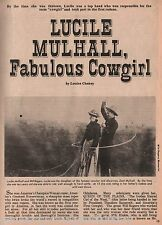 Lucille Mulhall, America's Fabulous Cowgirl + Genealogy