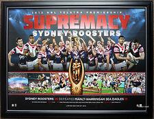 Sydney Roosters 2013 Premiers Limited Edition NRL Premiership Print Framed