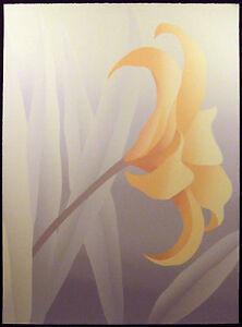 """Nancy Denison """"Phoenix"""" Signed Numbered Artwork Serigraph lily flower MAKE OFFER"""