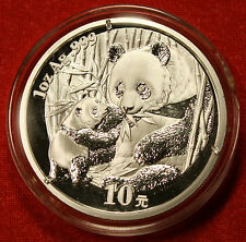 2005 CHINESE PANDA DESIGN 1 OZ .999% SILVER ROUND BULLION COLLECTOR COIN GIFT
